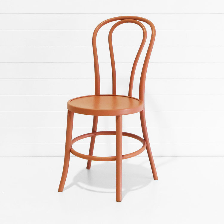 TERRACOTTA BENTWOOD CHAIR