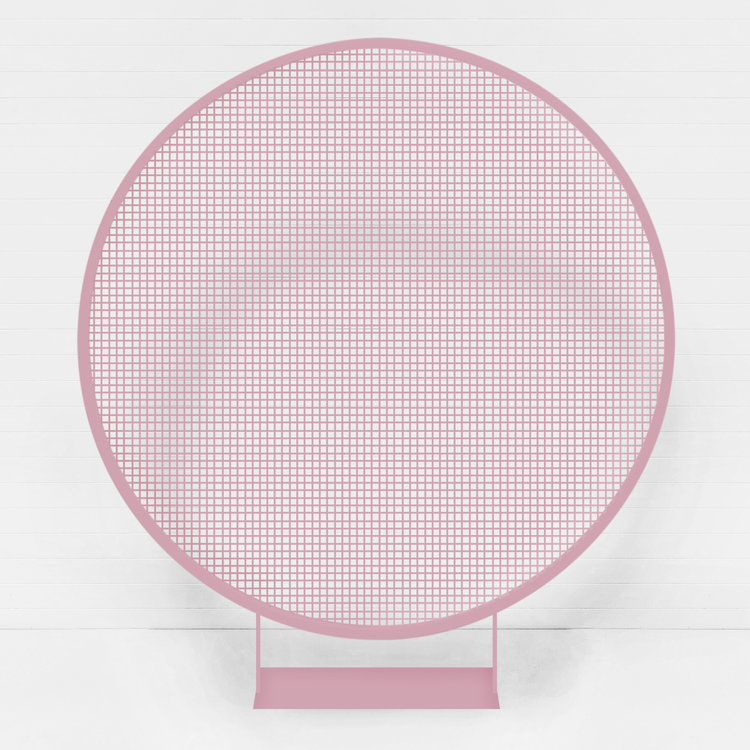 DUSTY PINK CIRCLE WIRE BACKDROP