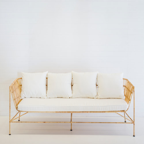 INDIE NATURAL LOUNGE WITH WHITE CUSHIONS
