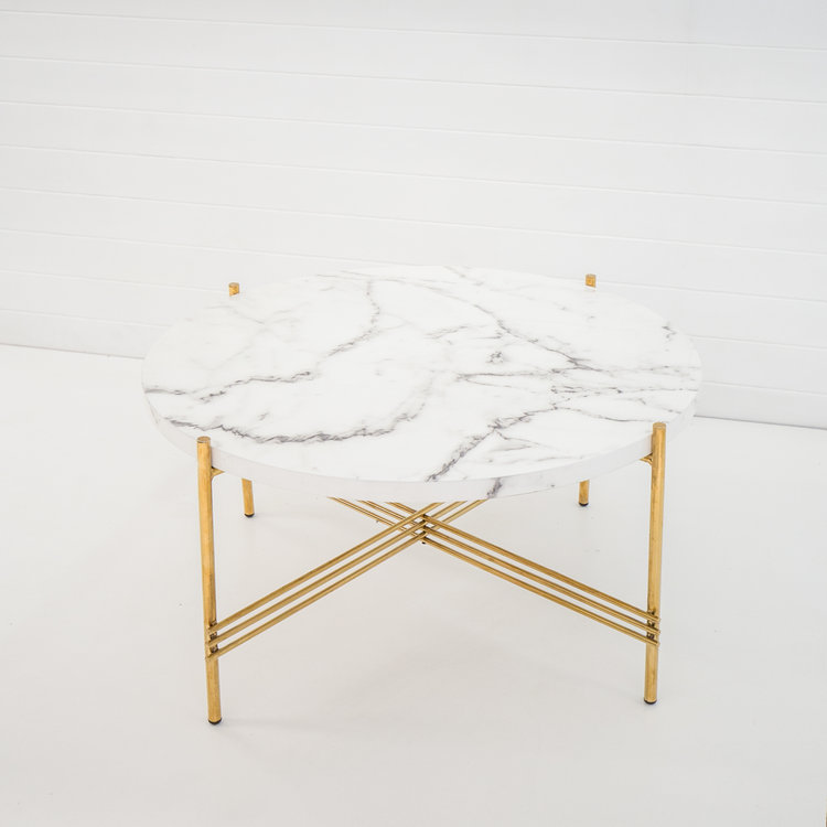 GOLD ICELANDIC COFFEE TABLE