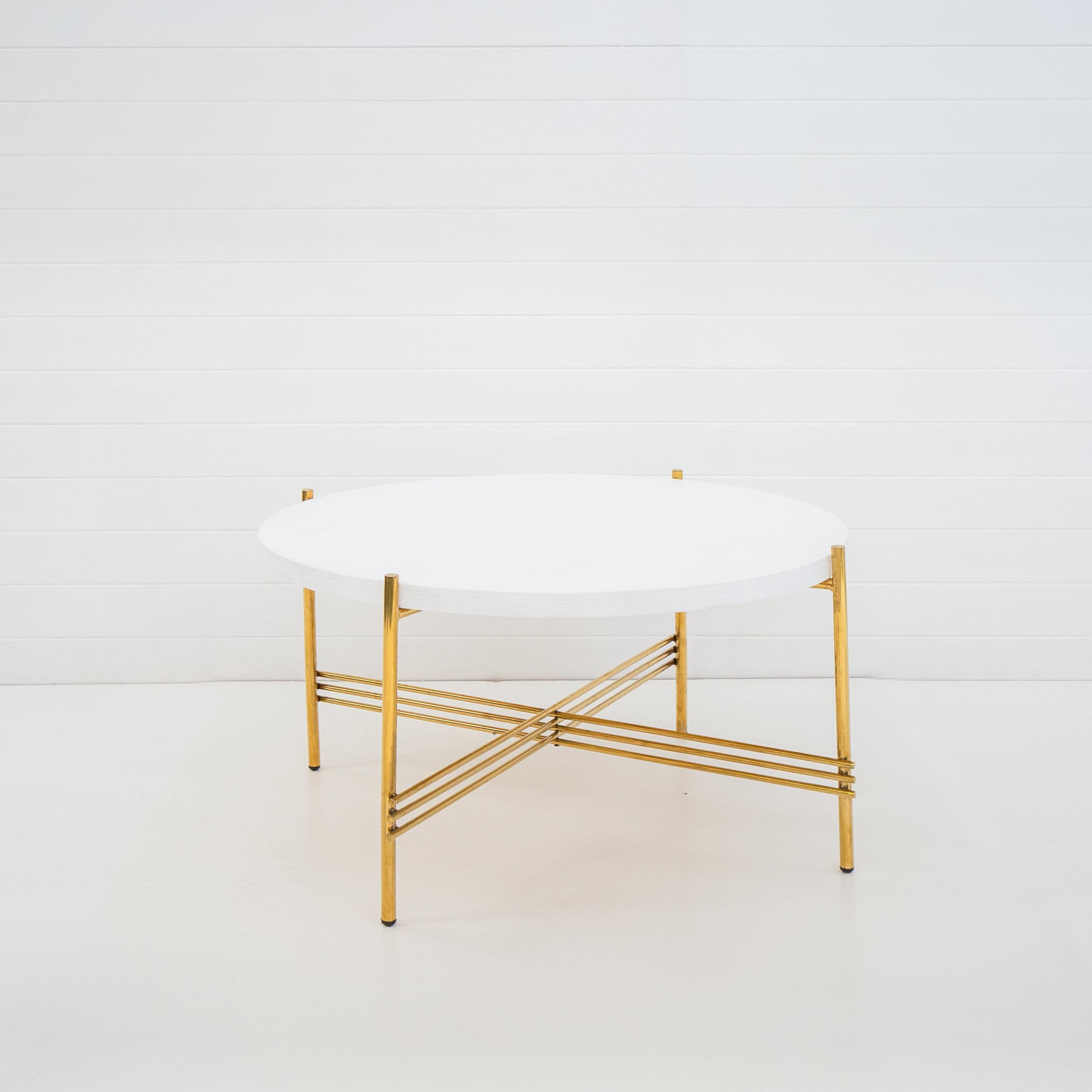 Gold Icelandic Coffee Table With Custom Top Hampton Event Hire