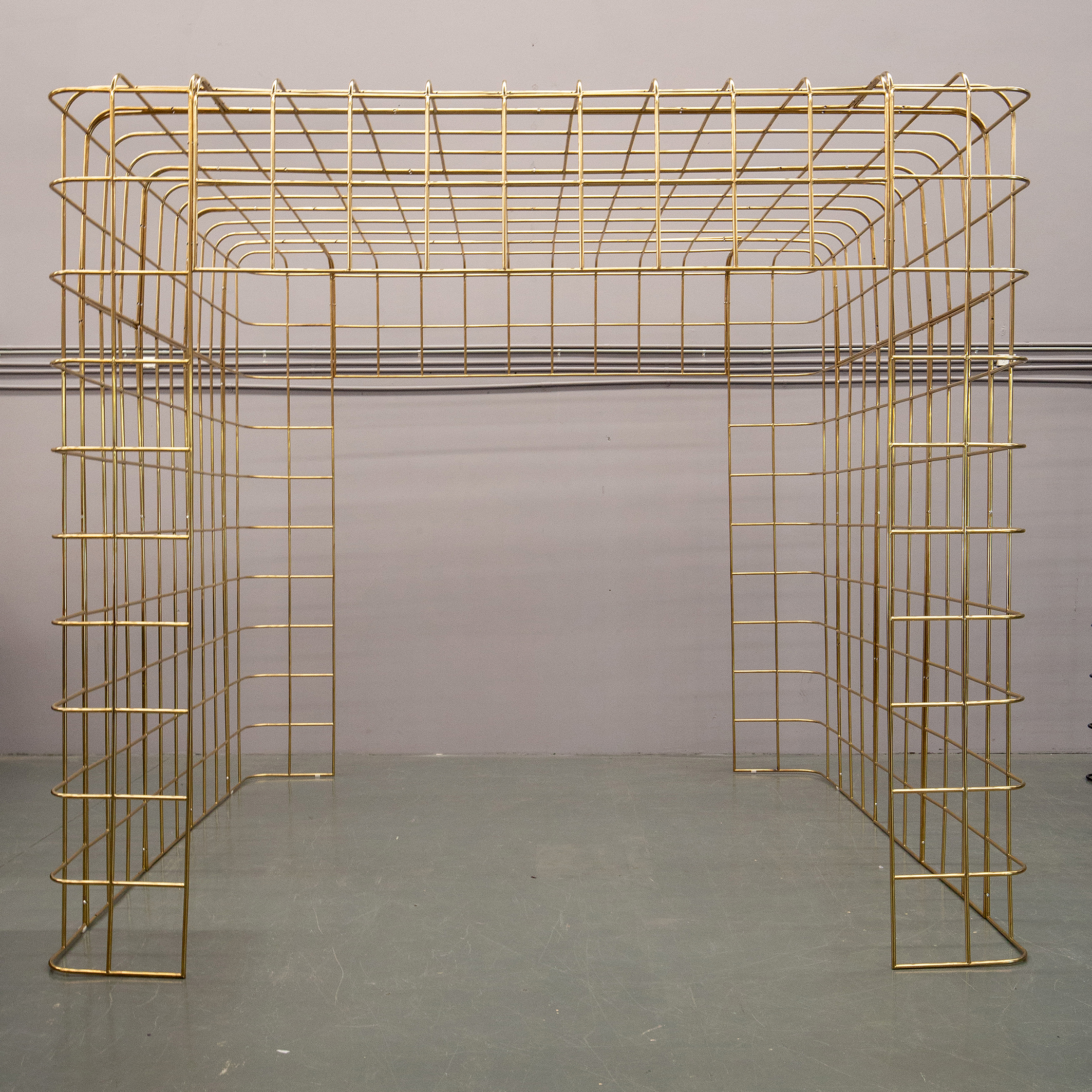 LARGE BROOKLYN GOLD WIRE STRUCTURE