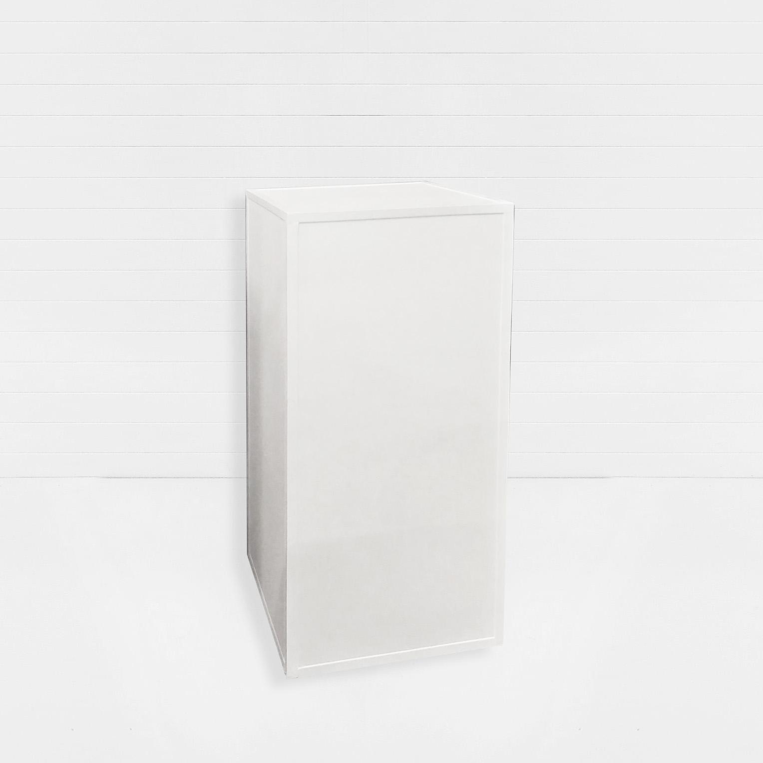 WHITE RECTANGULAR PLINTH SMALL