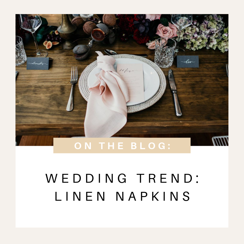 Linen Napkins Hire Styling