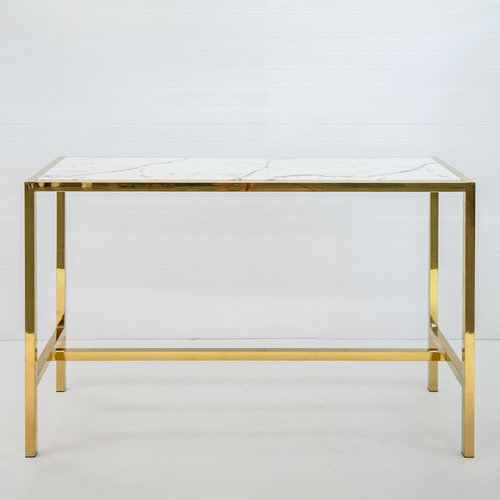 GOLD ICELANDIC DRY BAR WITH WHITE MARBLE