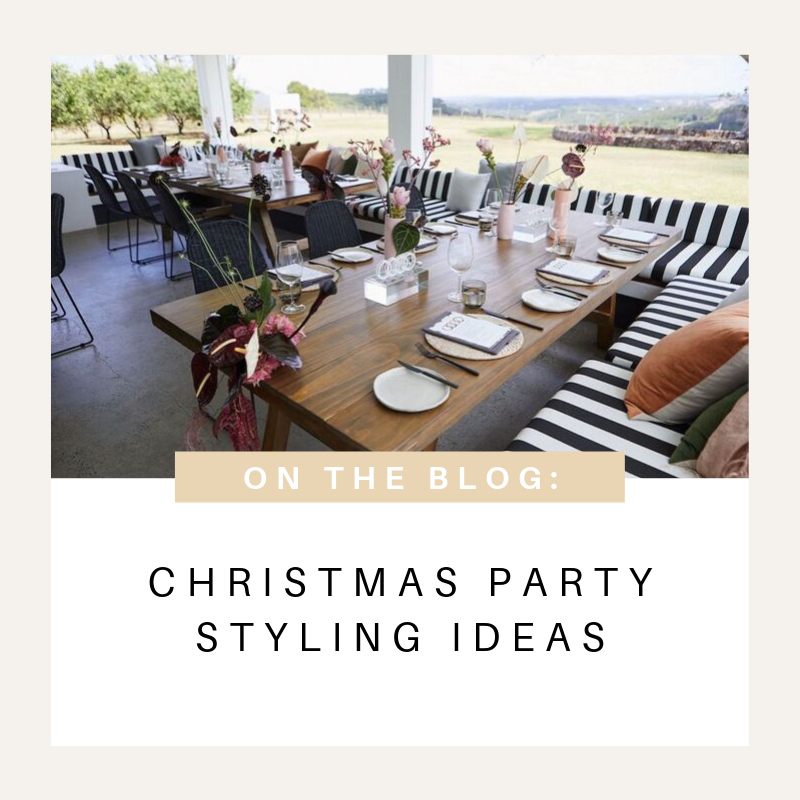 Christmas Party Styling Ideas and Inspiration! Hampton Event Hire, Function and Corporate Event Hire on the Gold Coast, Brisbane and Byron Bay