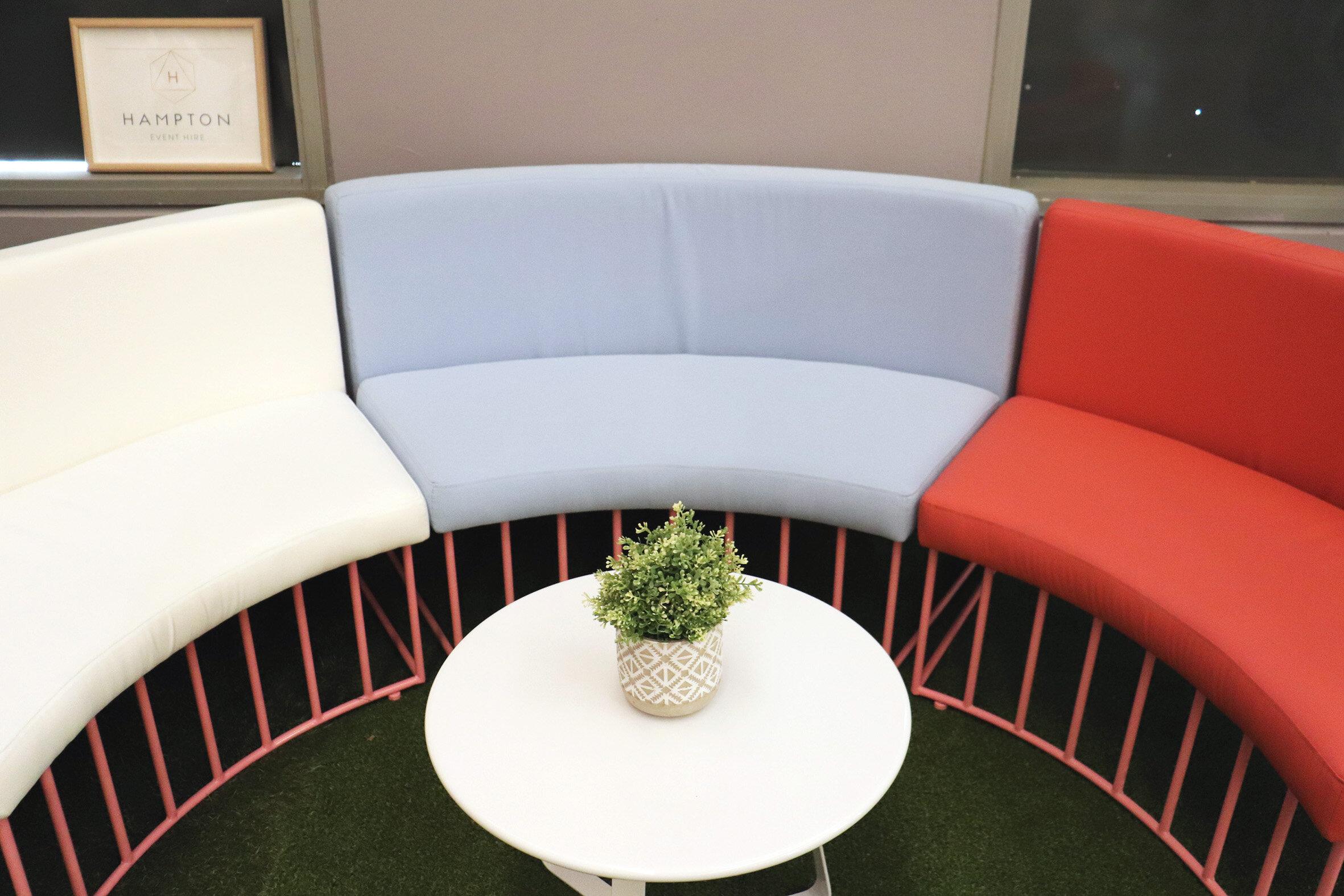 Havana Modular Lounge Blue Pink Hampton Event Hire