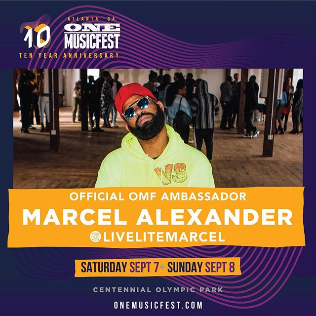 #ONEMusicfest turns ✋10🤚 yes 🔟 and I am honored to serve as the official #OMFBrandAmbassador for the LARGEST festival in the Southeast 💪🎤.. Tickets are selling fast🎟💨 so grab yours today before they sell out 🙏🏽 I will be your festival guide, and it's my pleasure to lead you down this amazing experience with an 🔥 🔥artist lineup, delicious food vendors, ticket specials and more!  But first things first! 👇👇👇 1. VISIT #OMF.com for ticket purchases.  2. REFER your friends, we can't have you enjoying this 2-day festival by yourself! 3. FOLLOW ME @onemusicfest & @esquirebranding for the latest and greatest updates on the OMF experience. #OMF2019 #ONEmusicfest #OMF #OMFBrandAmbassador19 #EsquireBrandingAgency #LiveLiteMarcel #LiveLifeLite