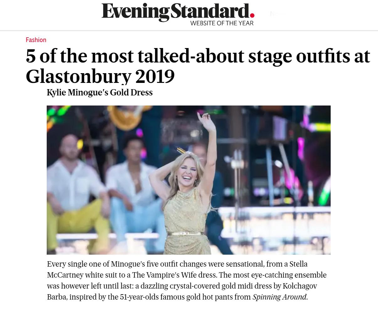 Kylie Glastonbury 2019 in Kolchagov Barba