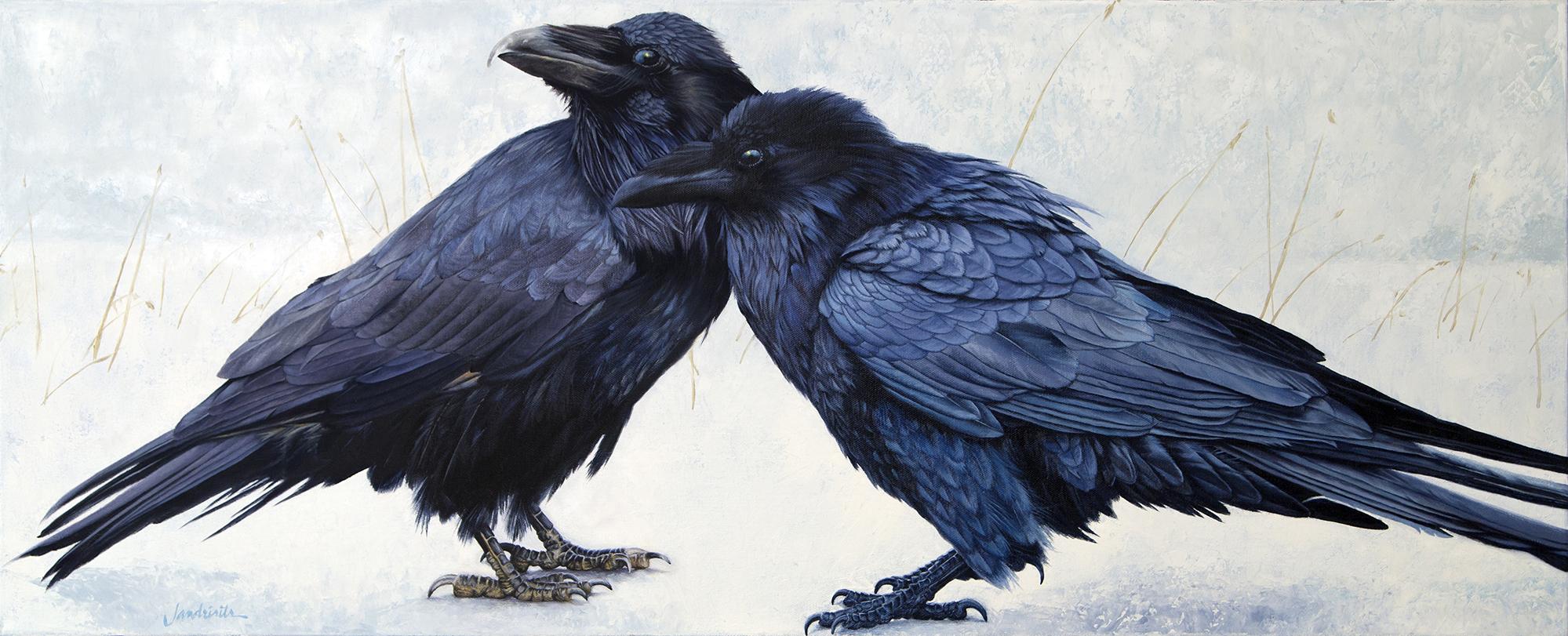 "Soul Mates  Oil on canvas  16""x40"""
