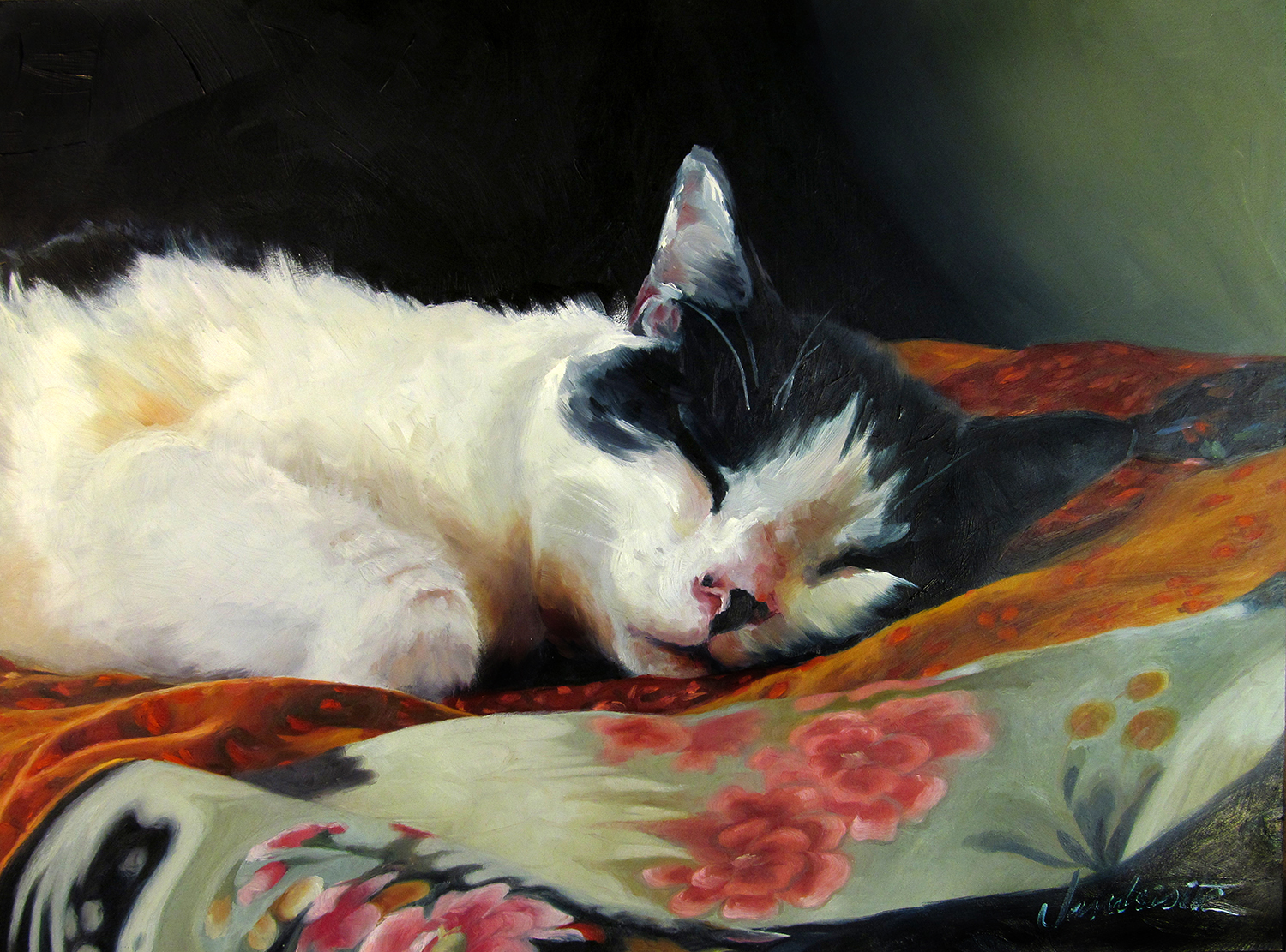A memorial of my OWN Grace that I painted a few years ago. (Shockingly similar to Jasper… I choose to believe she reincarnated.) Love you forever, Grace Face.