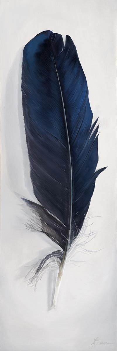 "Raven Spirit  12"" x 36"" Oil on canvas"