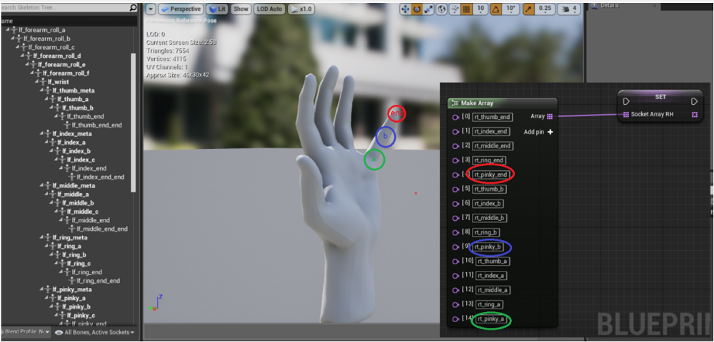 - Screenshot of tutorial using #UE4 and #LeapMotion for making typing in #VR easier and more natural!