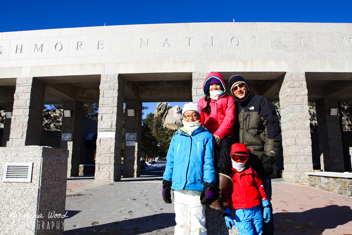 Family at Mt. Rushmore