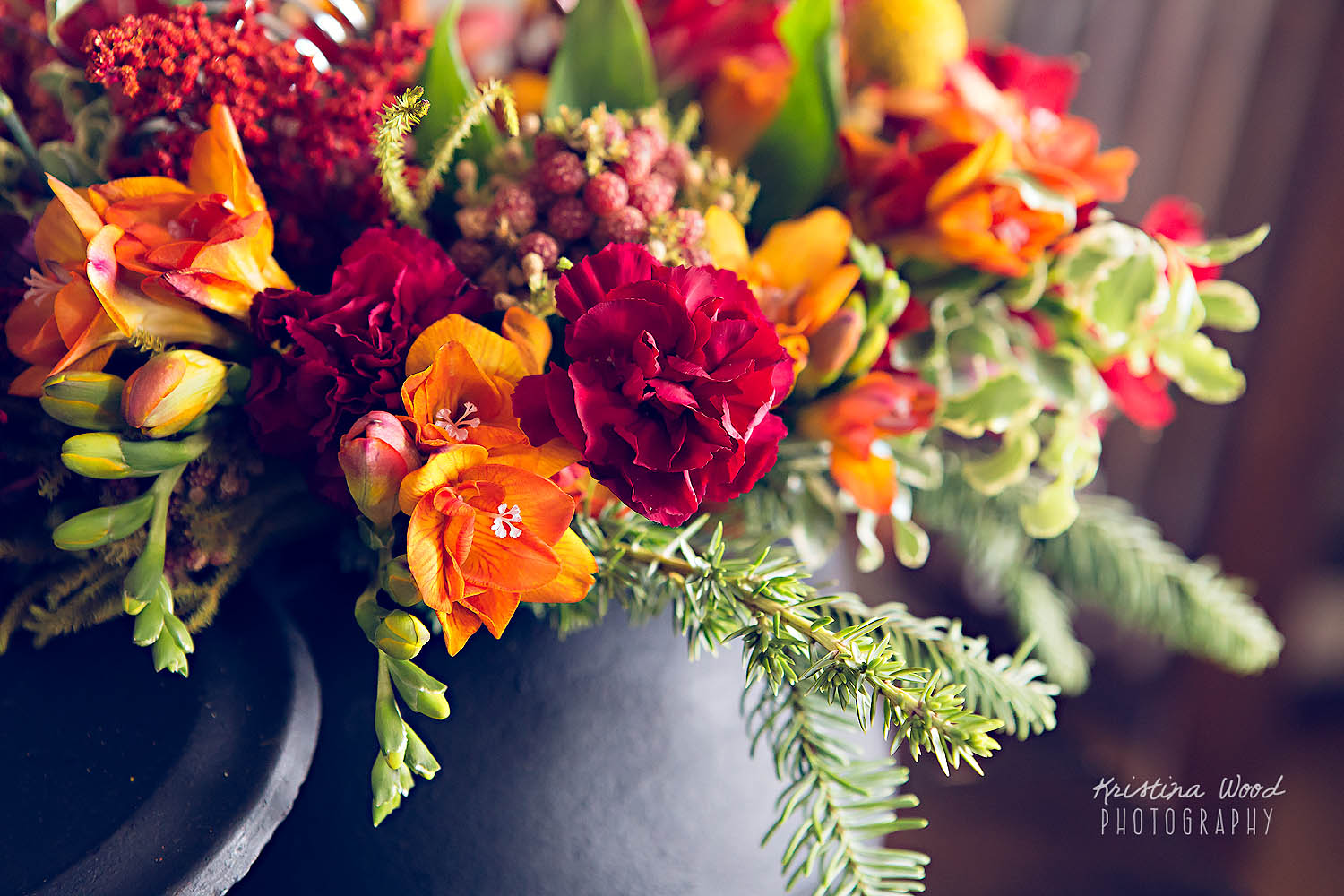 flower arrangement closeup