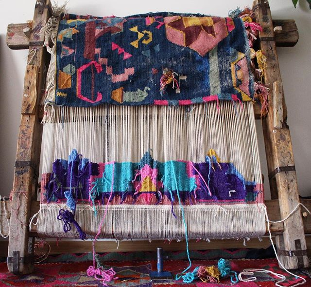The process of how Turkish kilim rugs are made. Photo by  kayakilims