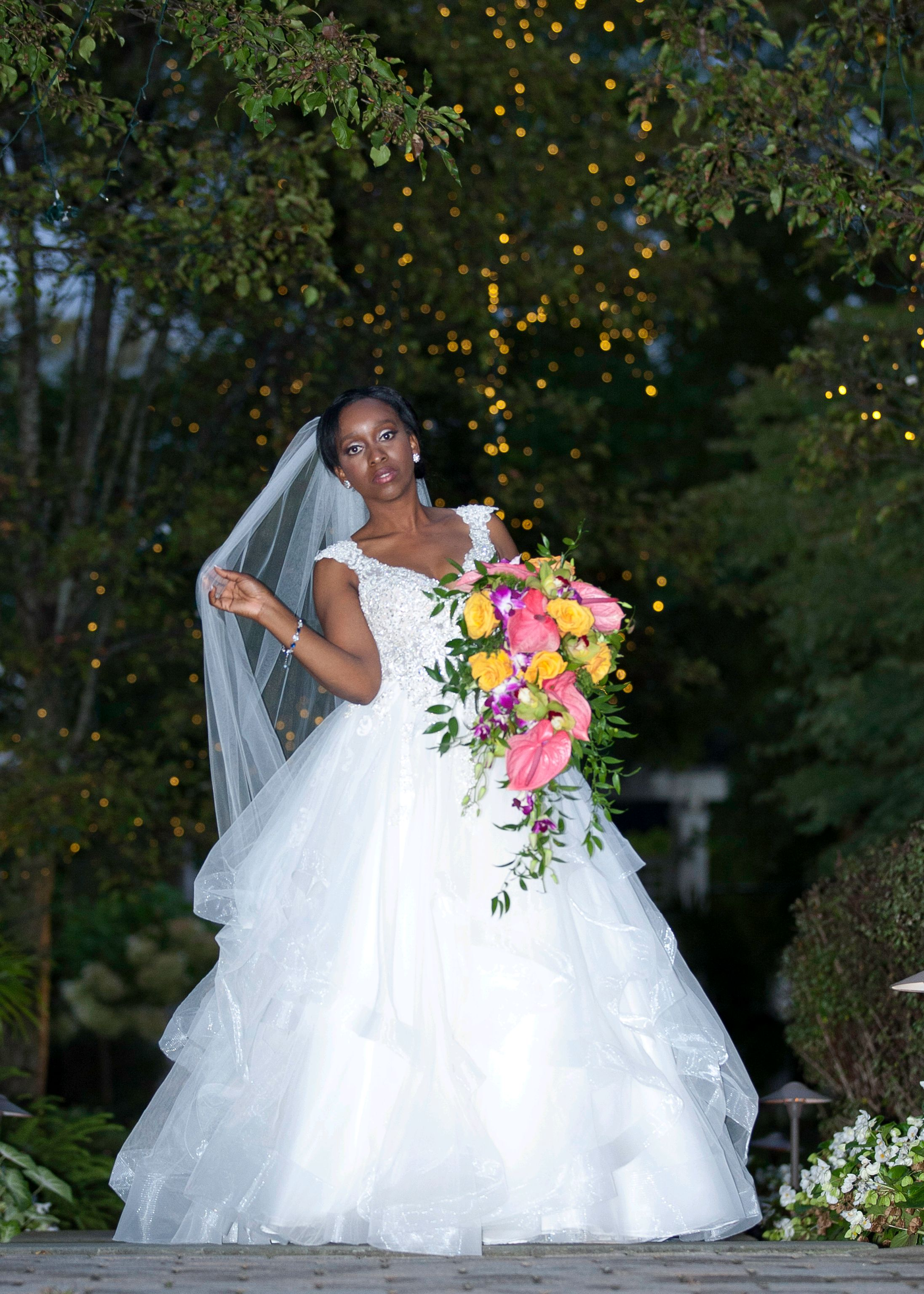 """Toned for my wedding - """"Thanks to RoseFit I was able to reach my goals for my wedding day. I wanted to have my arms to be toned while maintaining a healthy weight."""" -Stephanie"""