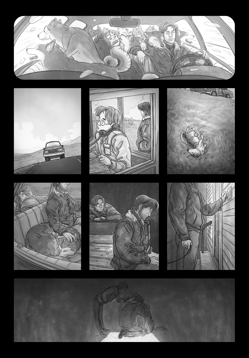 Guest art for Metal Gear Solid fancomic, The Last Nine Years