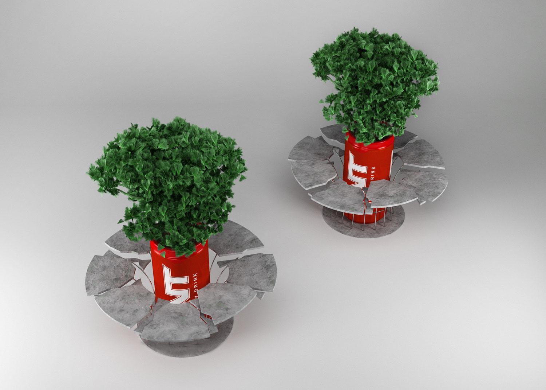 Vaso Bancos Explodido TNT