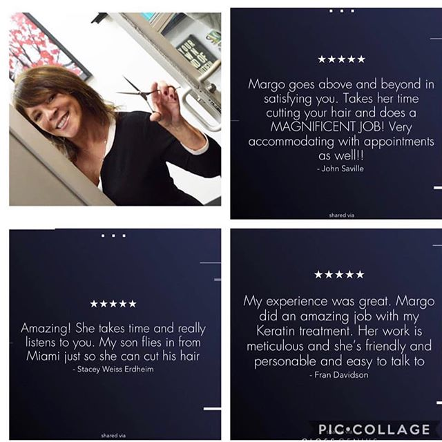So grateful for my clients and for all the love!! ❤️✂️. #solasalonlongisland #studiolife #reviews #hairdresser#huntington#longisland #haircuts #solasalons #margoshairstudio