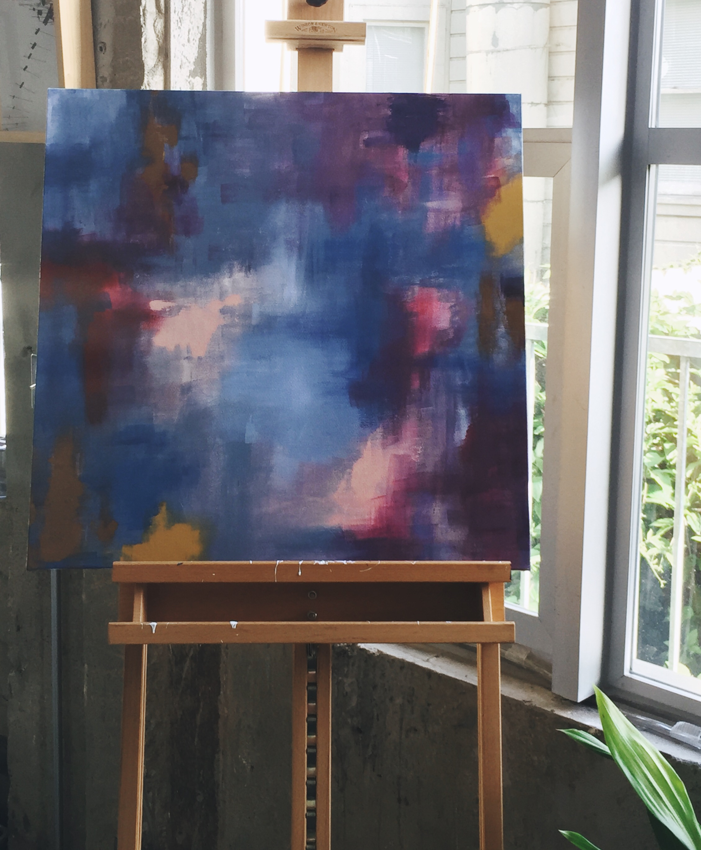 Work in progress. Photograph taken at the south end of the kitchen/studio.