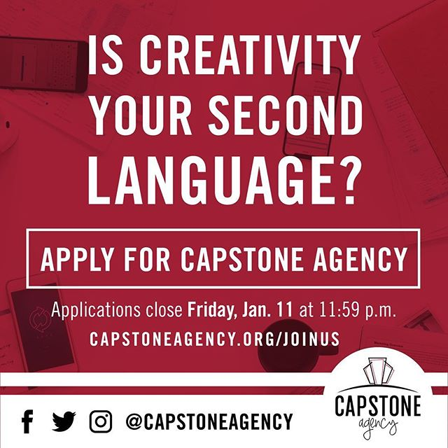 Capstone Agency application tip #4: Make sure to read the directions thoroughly. We can't wait to see who applies for the top student-run firm in the nation! Use the link in our bio to apply.