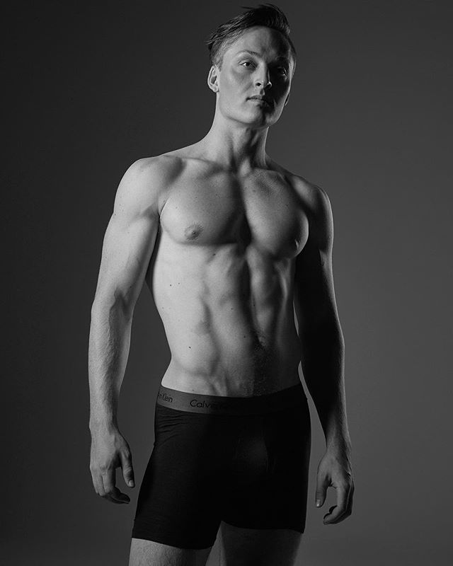Model: Brian Adams. I think he works out.