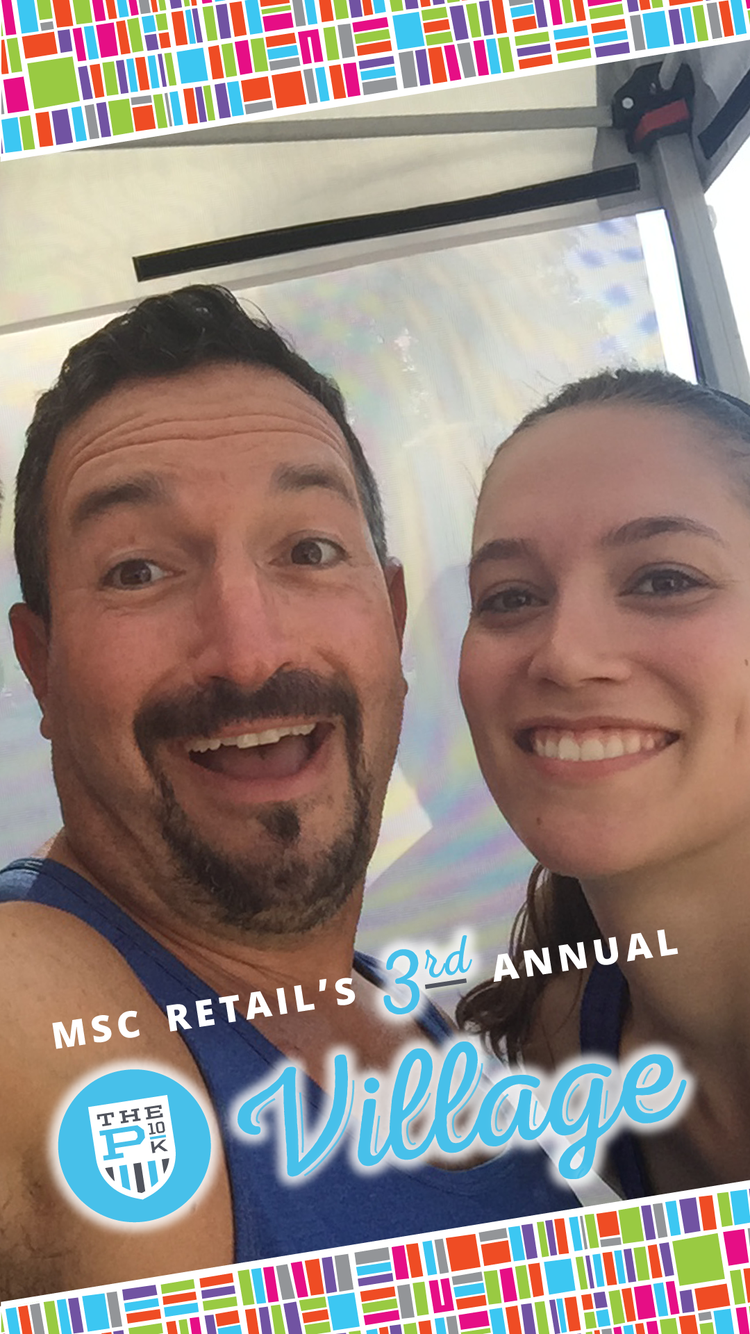 Snapchat filter designed using MSC Retail Village logo by Stacey Toseland