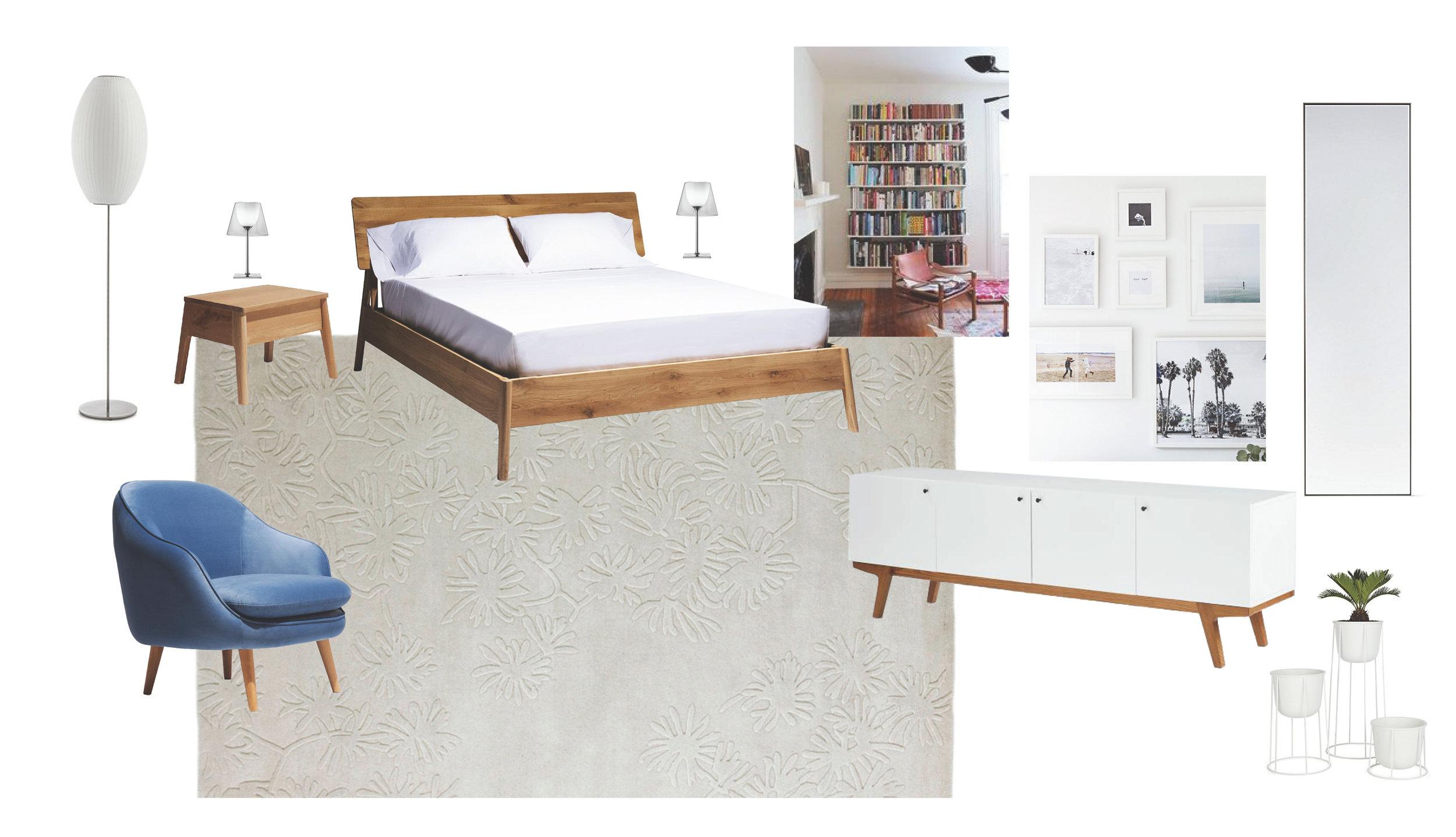 Master Bedroom   FF&E Board   Natural Serenity