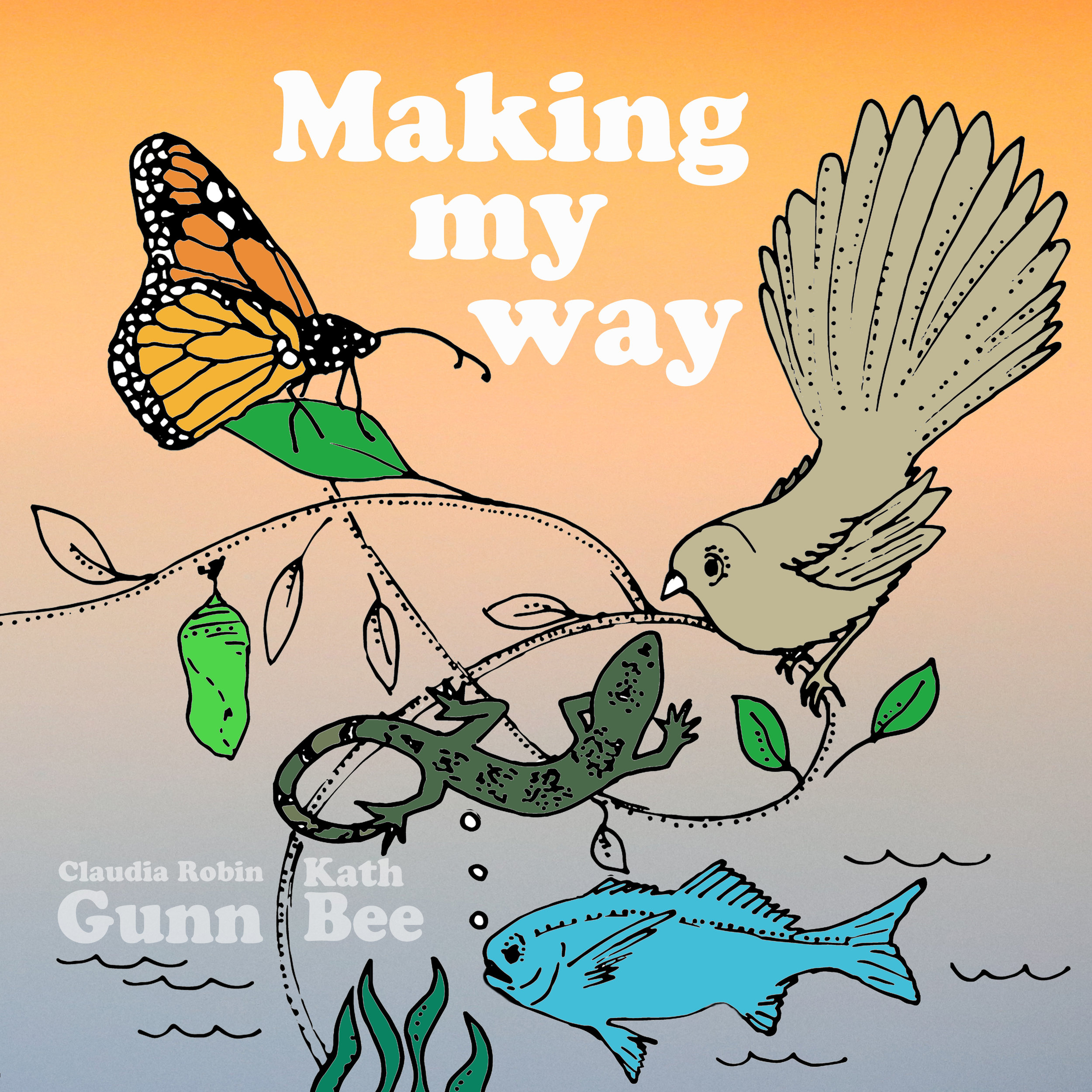 "Making My Way - Little Wild Music has a brand new single out - a collaboration between Claudia and Kath Bee. The song is called ""Making My Way"" and it joyously taps and tiptoes and stomps its way through an imaginary conversation between an 8 year old and a cast of native creatures. It's sweet and sparkly and has butterflies and geckos - what more could you ask for? Listen on Spotify HERE"