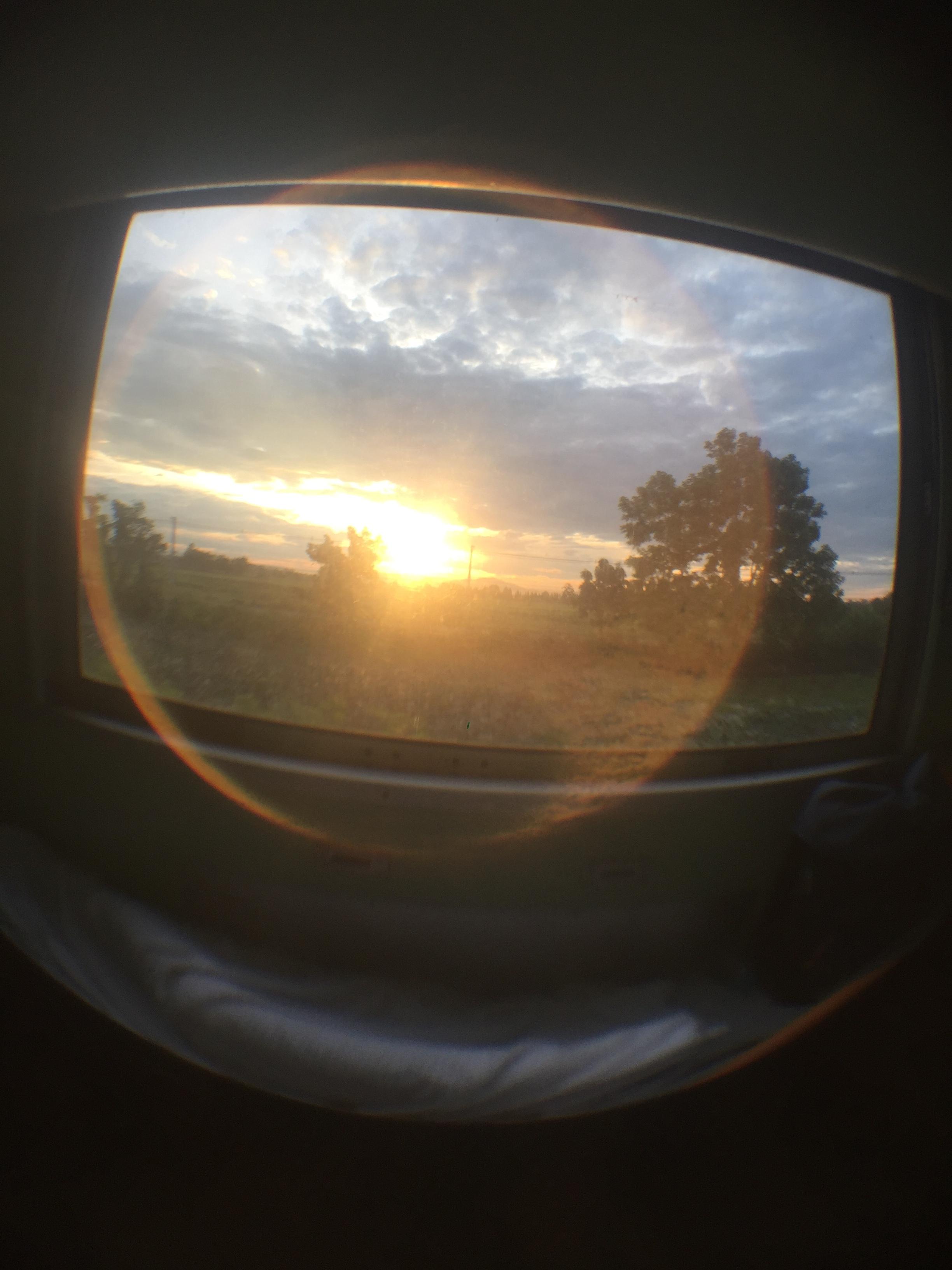 Sunrise from the sleeper train.
