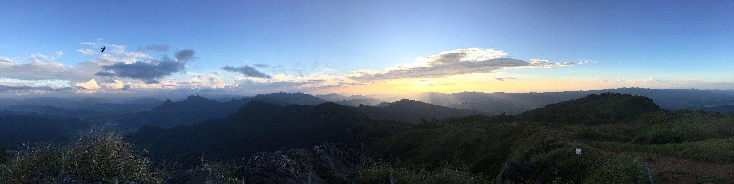 Panoramic views.