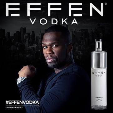 50 Cent Effen Vodka Byron's Liquor