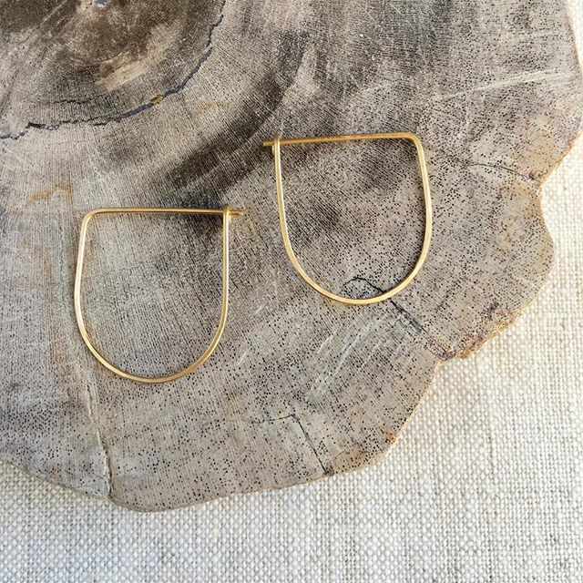 Our best-selling, wear em' every day, half moon hoops are the perfect gift idea. Order online (the shipping is free!) or pick up a pair @uniquemarkets in DC this Sunday.