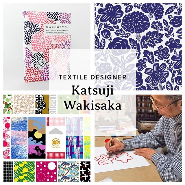 """Playing a little catch-up! Let's start w/ day 27, which was finally cracking open a book I bought for pattern inspiration, """"Katsuji Wakisawa, Japanese Textile Designer"""". He was the first Japanese designer for #Marimekko back in the '60s. He returned to Japan in the '80s to start SOU•SOU & he's still designing today.   From the bio: """"These days Wakisaka begins his day w/ a walk & takes inspiration from the landscape of his hometown, Kyoto. After returning to his studio, he paints everything from seasonal changes in nature to traditional Japanese patterns. Many of his textile designs for SOU•SOU begin as postcards, which serve as initial drafts for his designs, & he mails each one to his wife."""" He has made more than 10,000 postcards.   I bought the book b/c I like his aesthetic, but I find deeper inspiration in his process. Routine. Diligence. Nature. Balance. How can I emulate this in my life? What boundaries do I need to create the ___space___ to **work** the process?   Day 28: Read WGSN trend reports 📜 Day 29: Choose phone models for printed cases📱 Day 30: Get iPad + Paper app + stylus + syncing working again to facilitate digital sketching 🖊"""