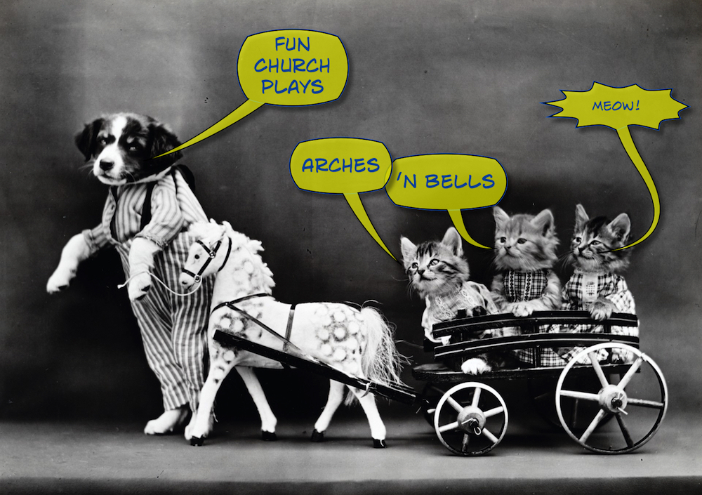 Fun Church Plays Lenten Worship Resources (Dog & Kittens cc0 image homepage image)