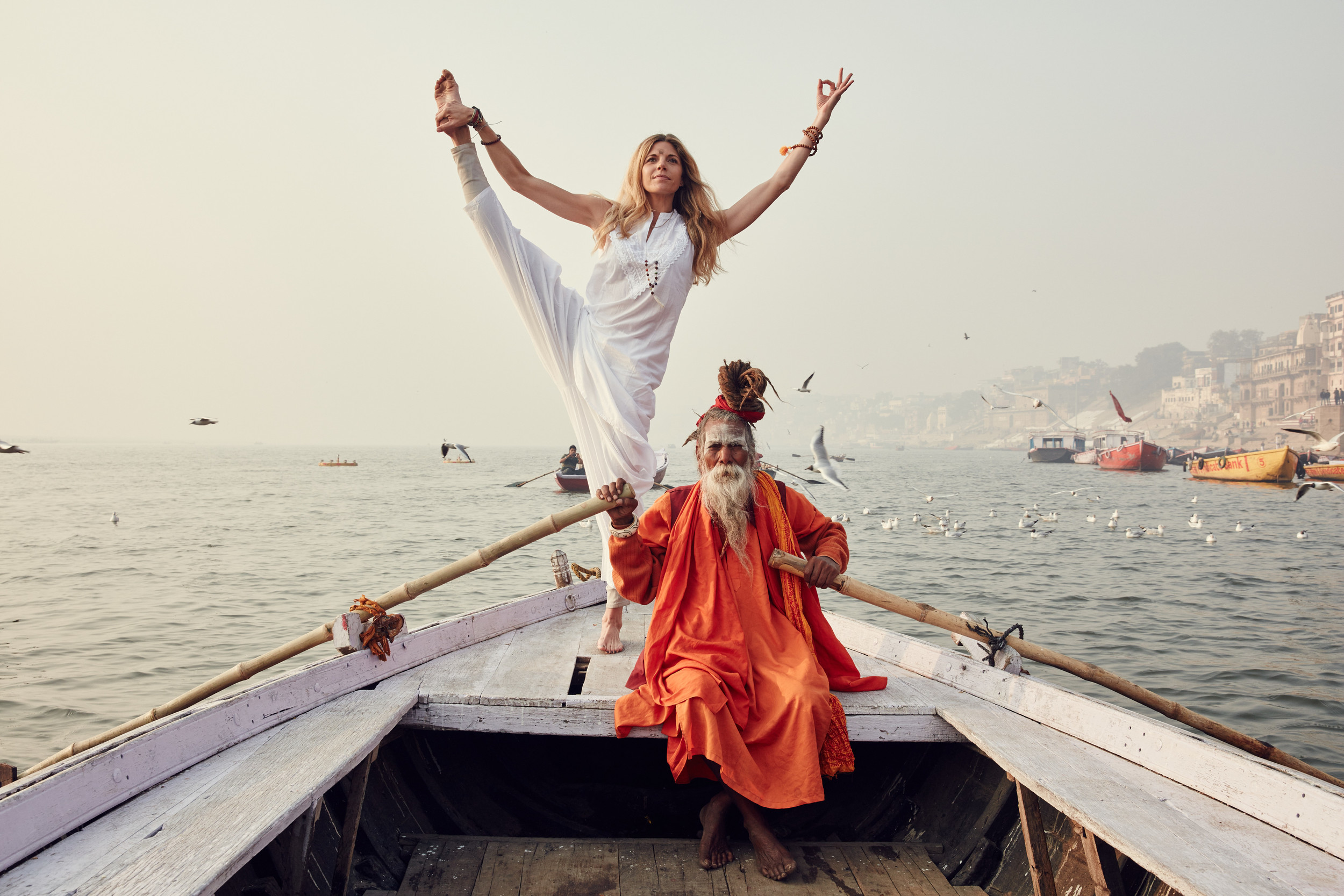Varanasi, India on the Ganges River