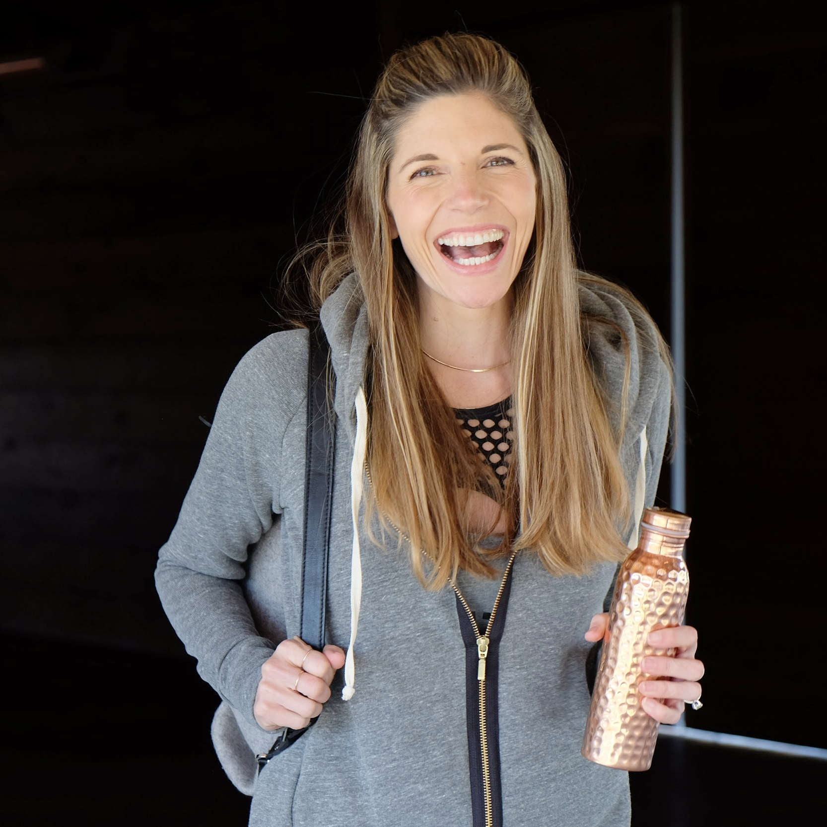 Health and Wellness Writer, Sonoma Mama, Yoga Instructor, Actress Andrea Bogart photographed with copperh2o by Erik Almas