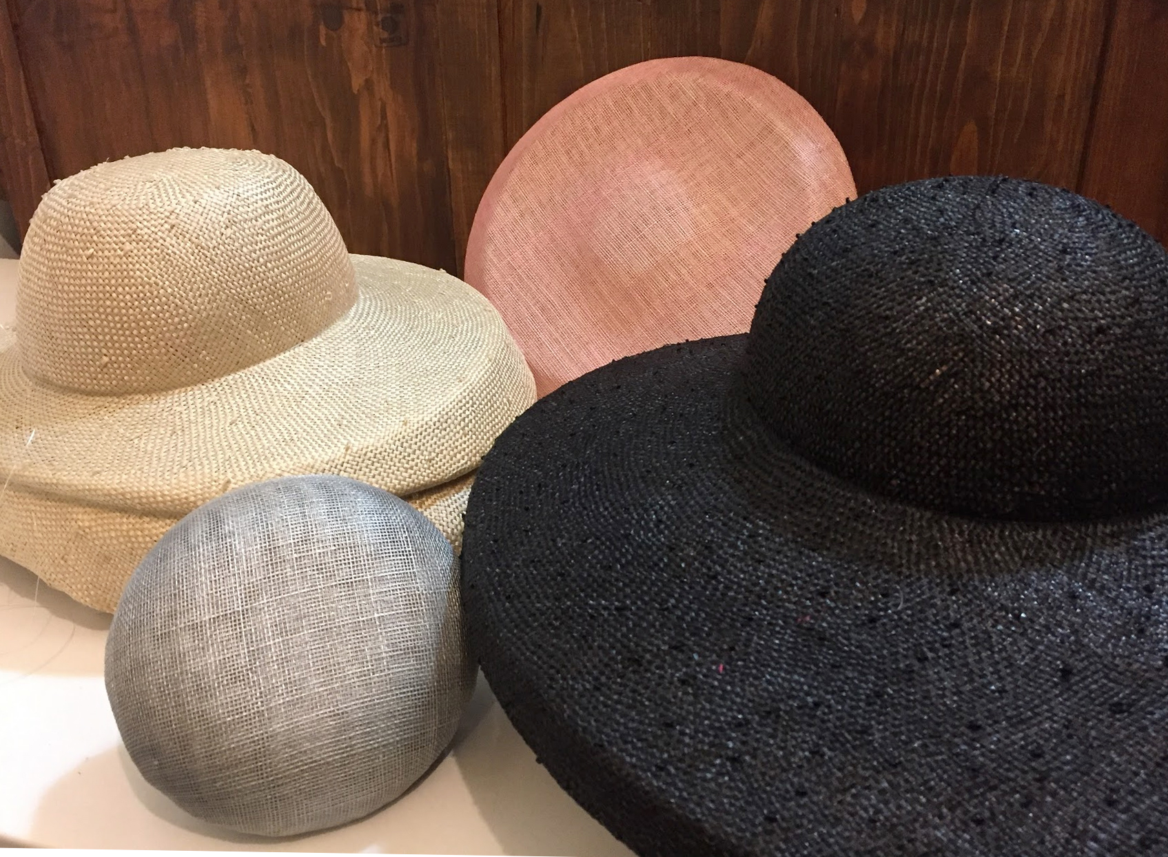 Blocked straw hats - unisex • assorted straws and finishes
