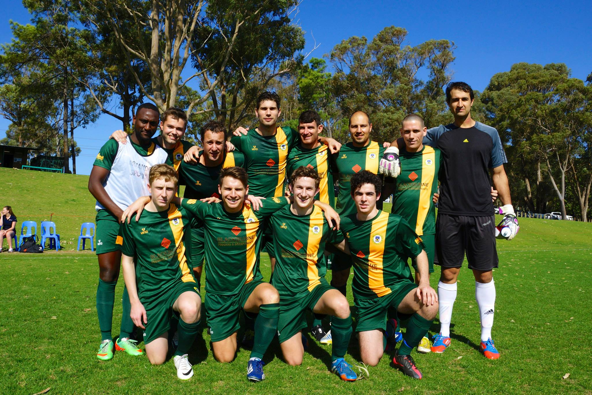 The UWANFC State league team exhibits the clubs best players