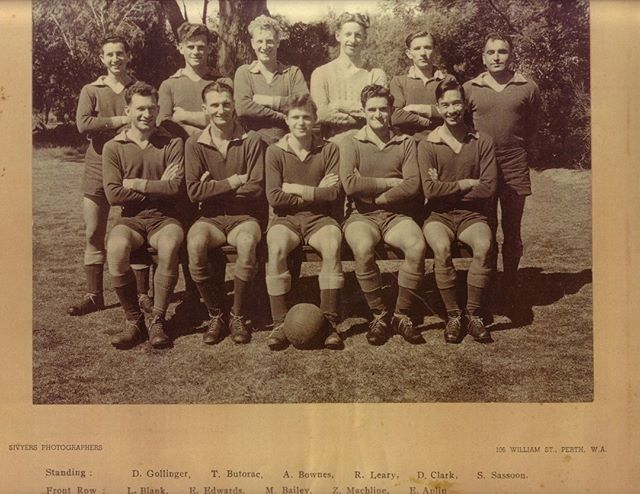 The ultimate blast from the past. The first ever UWA Football team, taken in 1949.  Be a part of history in 2016 and join a team at @uwanfc - we are taking registrations now, with training beginning in February.  #tbt #history #uwanfc #uwa #uni #theresonlyoneuniversity #uwastudentlife