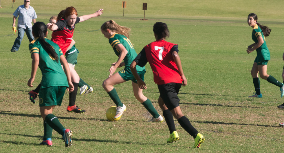 Millie Bates in action for the 17 girls