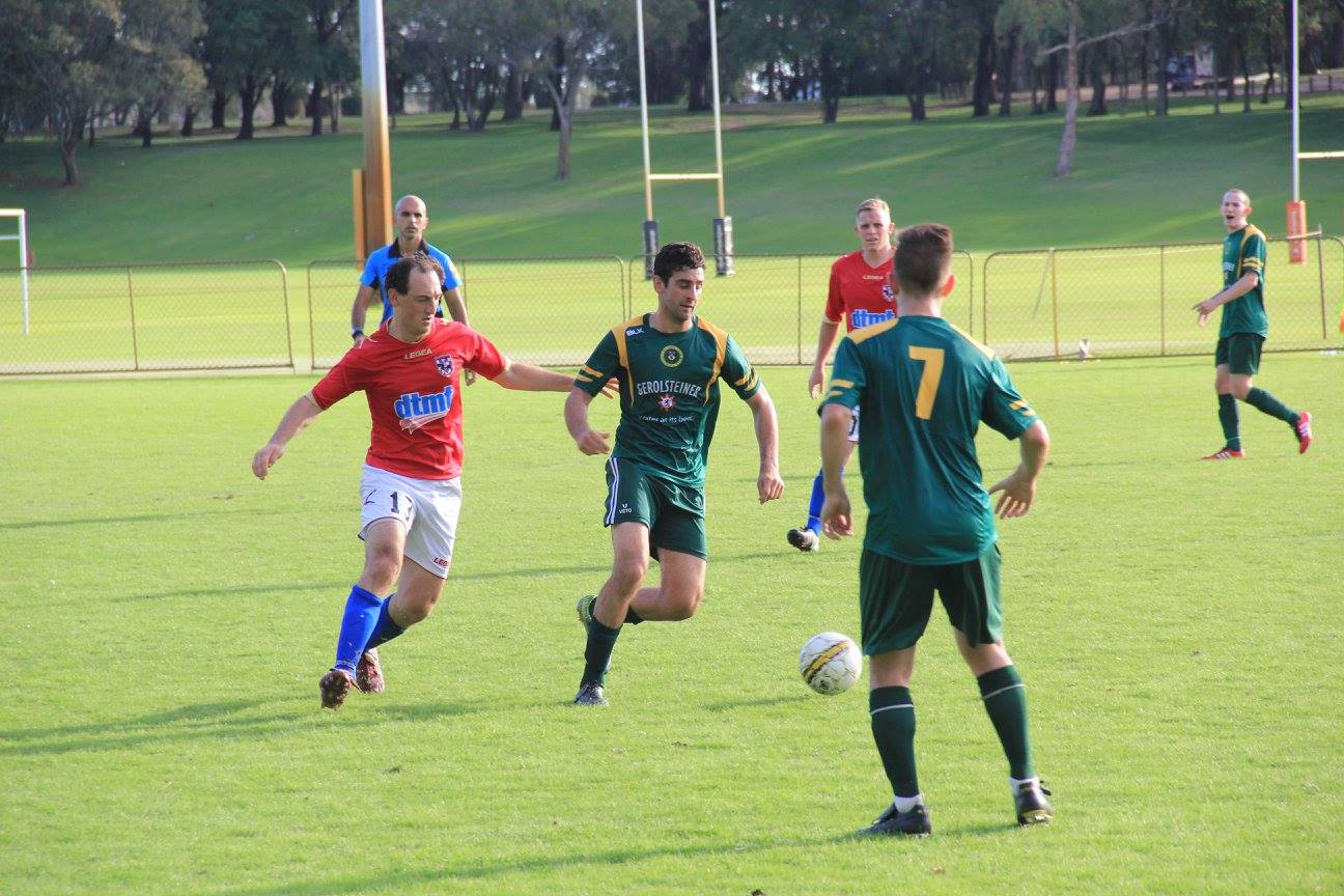 Andrew Xydas in possession for UWA - Photo courtesy of Chris Beech