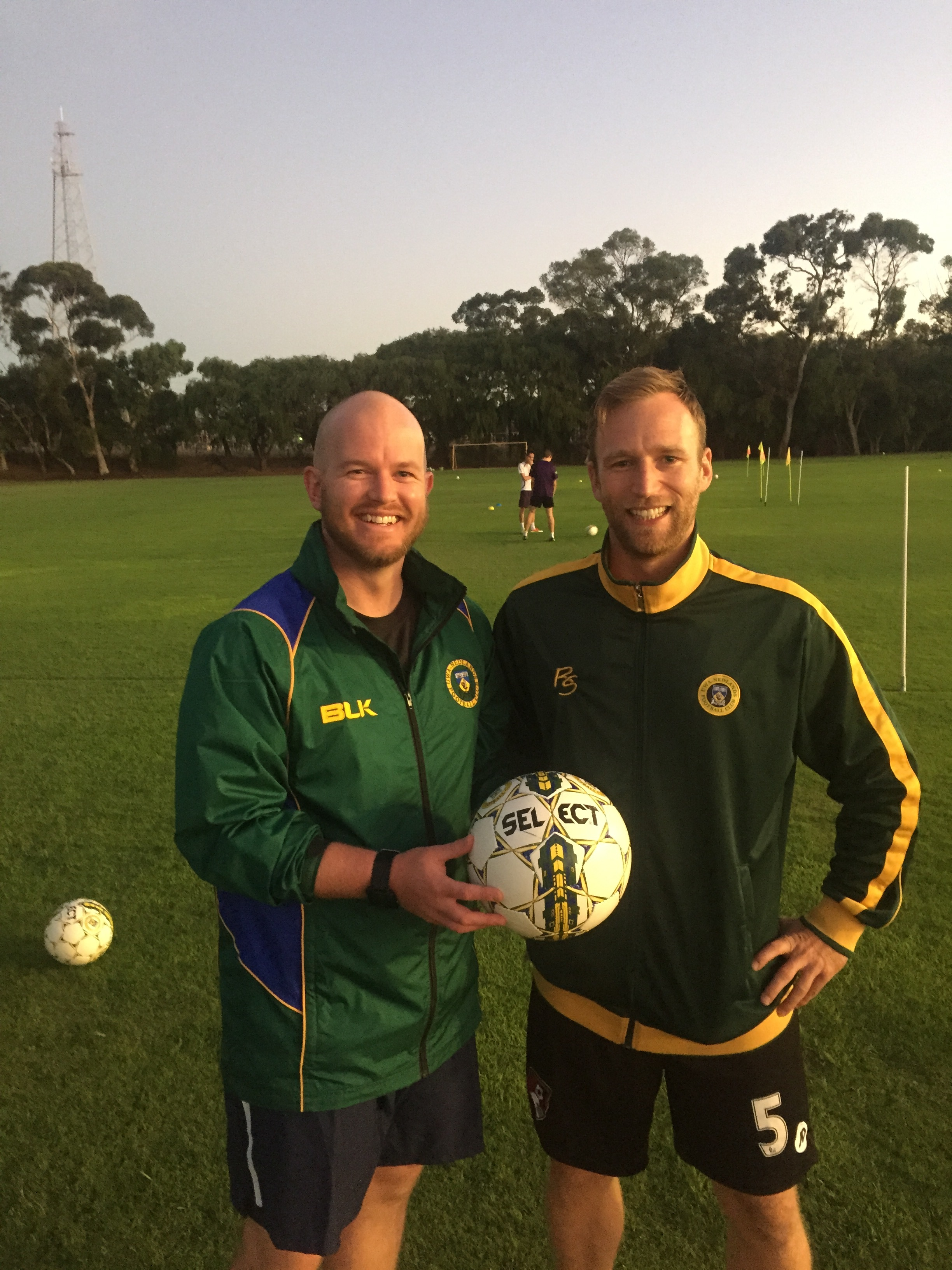 Chris Beech (left) has taken up a position as Operations Coordinator at the FFA in Sydney