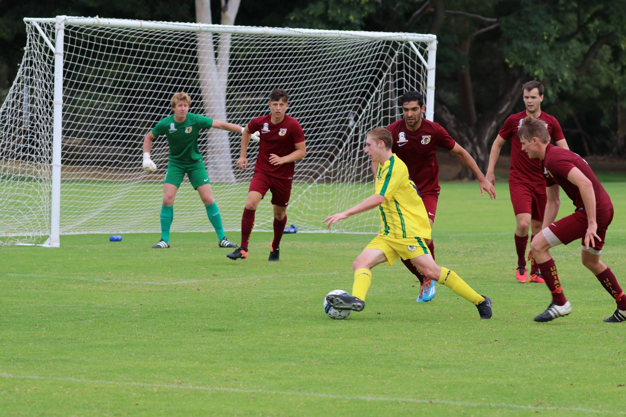 ALEX KRETOWICZ BAGGED A HAT-TRICK AGAINST SUBIACO - CREDIT: GABRIELE MALUGA