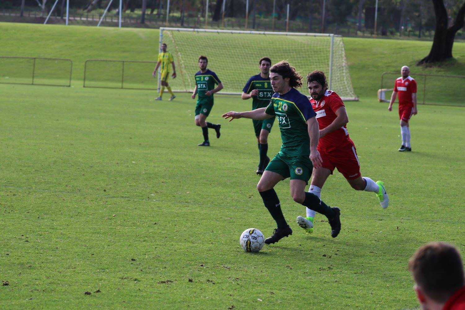 MAX WELTON SKIPS AWAY FROM A DEFENDER IN THE 5-1 WIN - CREDIT: GABRIELE MALUGA