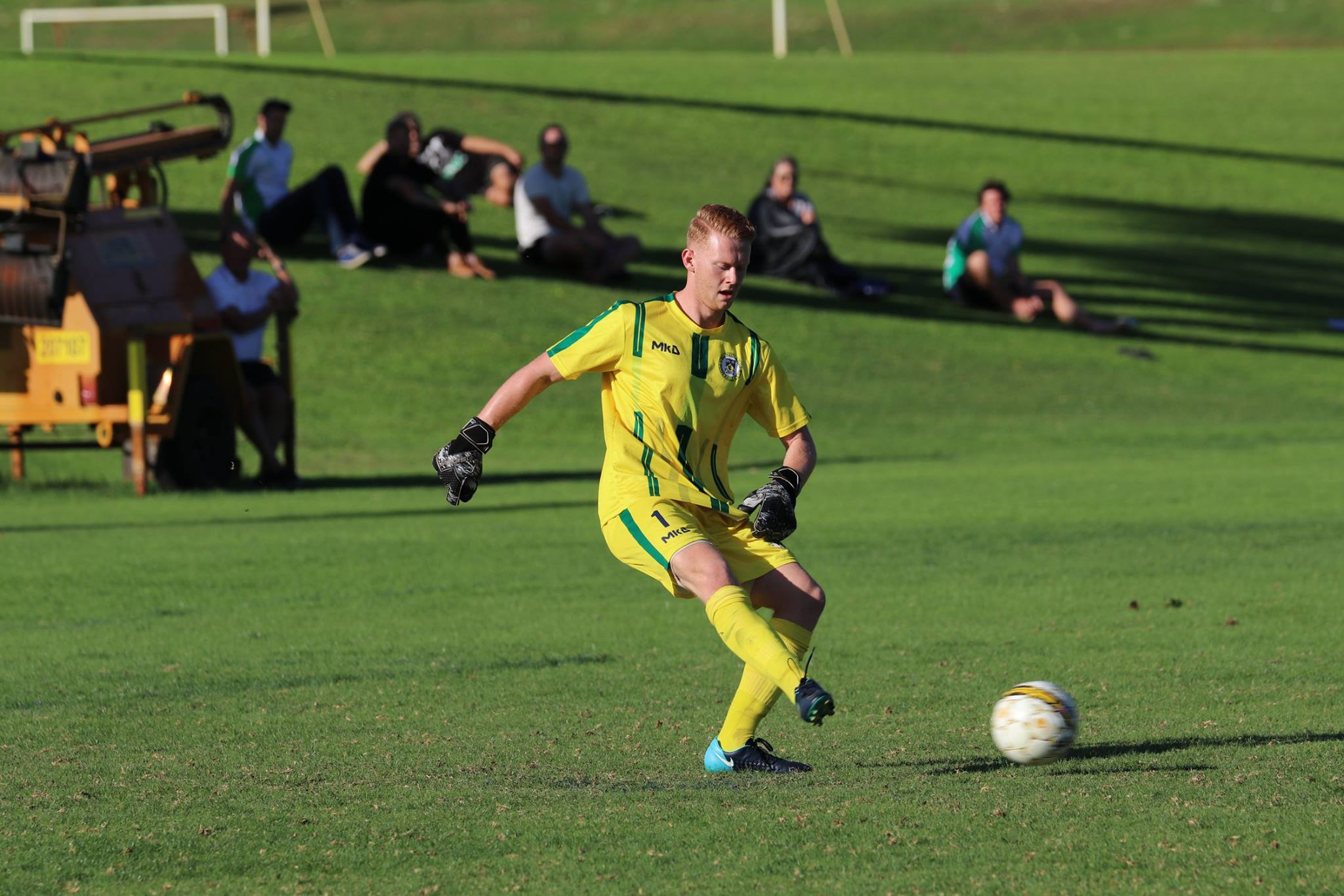 New UWA keeper Rhys Macfarlane was in fine form as his first clean sheet for the club.
