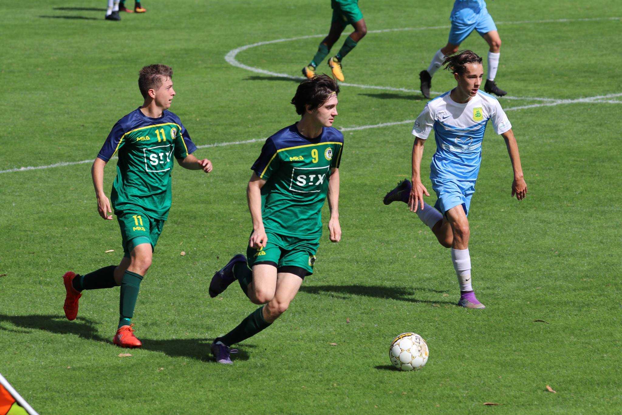 THE U18's ENJOYED ANOTHER BIG 3-0 WIN - CREDIT: GABRIELE MALUGA