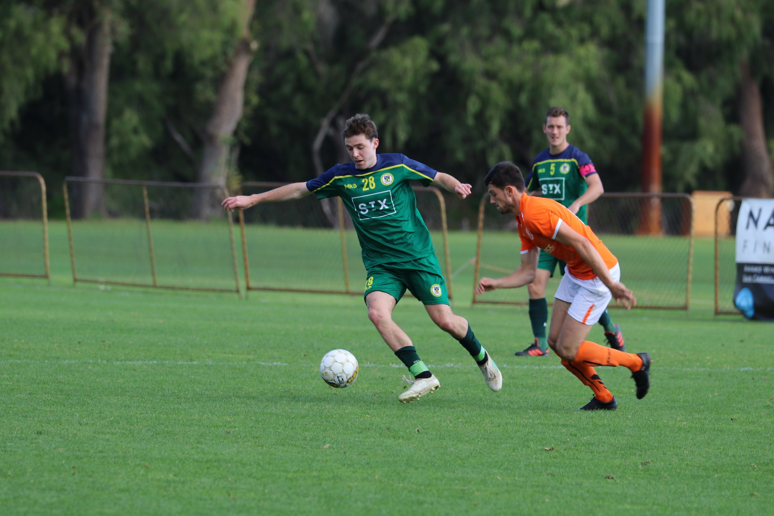 MAN OF THE MATCH CONOR DEVLIN ON THE BALL - CREDIT: GABRIELE MALUGA