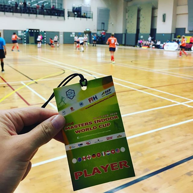 Masters Indoor World Cup is underway now! Excited to be representing 🇭🇰. . . . . . #hongkong #indoorhockey #masters #funwithfriends #byobeat
